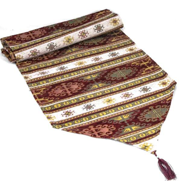 Traditional Tapestry Table Runner 180x40cm 010