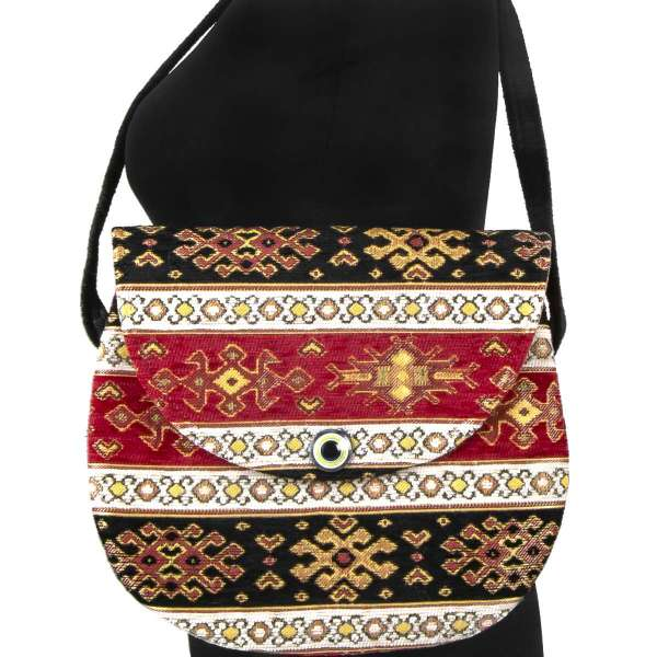 Tapestry Round Cross Body Bag