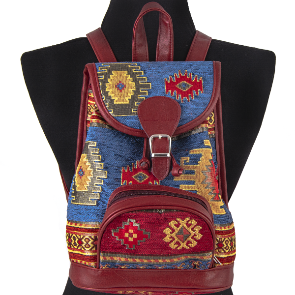 Mini Rucksack Red & Blue