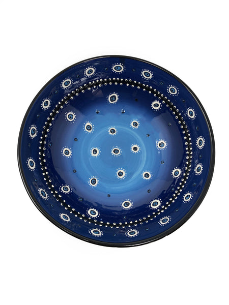 Evil Eye Handmade Ceramic Turquoise Blue 20cm Serving Bowl
