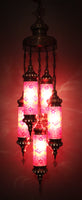 Hand Made Size 1 Cylindrical 5 Piece Chandelier
