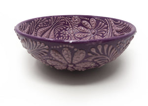 Ozel Handmade Ceramic Collection 15cm Bowl Purple