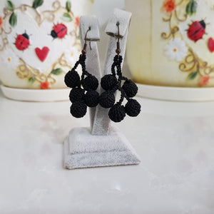 Handmade Needle Lace Bunch of Berries Earrings
