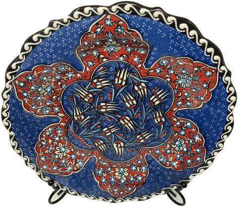 Special Collection Handmade Ceramic 25cm Plate 010
