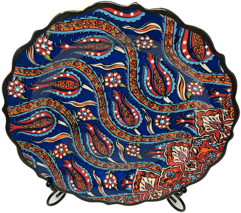 Special Collection Handmade Ceramic 25cm Plate 018