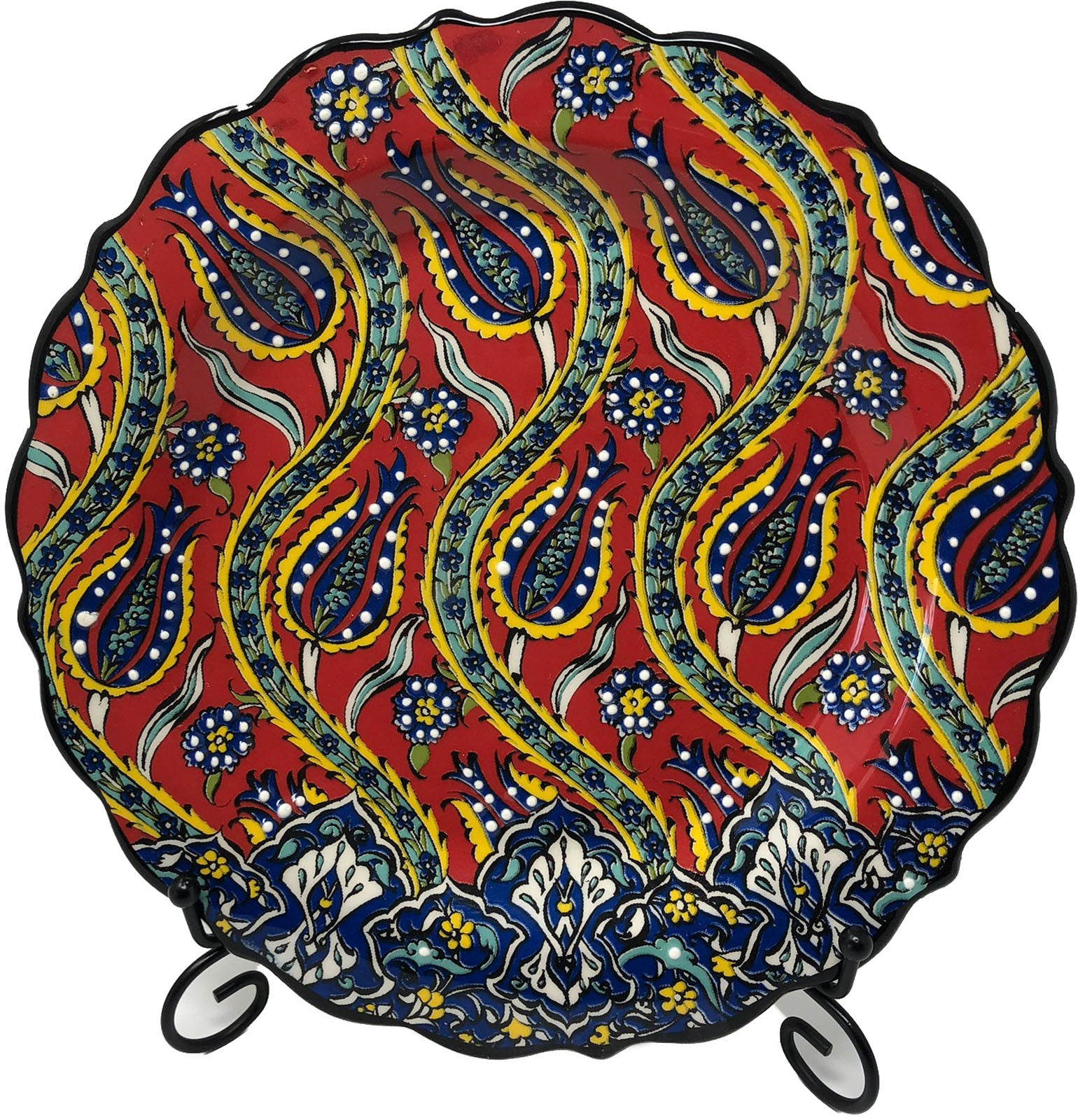 Special Collection Handmade Ceramic 25cm Plate 004
