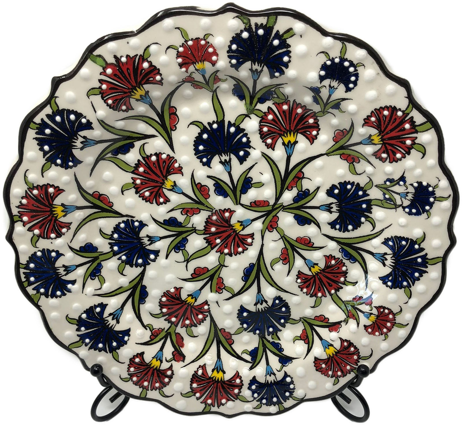 Special Collection Handmade Ceramic 25cm Plate 019