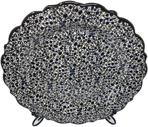 Special Collection Handmade Ceramic 25cm Plate 012