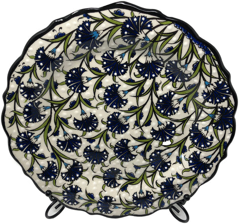 Special Collection Handmade Ceramic 25cm Plate 014