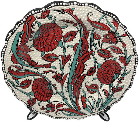 Special Collection Handmade Ceramic 25cm Plate 015