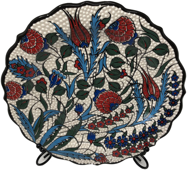 Special Collection Handmade Ceramic 25cm Plate 005