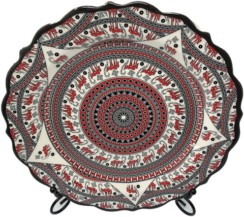 Special Collection Handmade Ceramic 25cm Plate 007