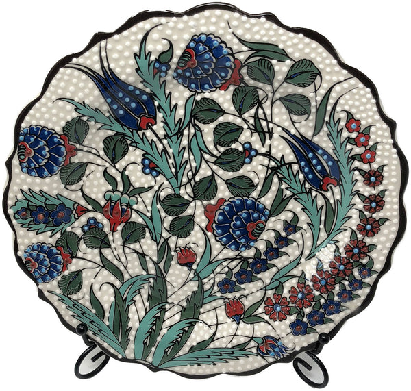 Special Collection Handmade Ceramic 25cm Plate 008