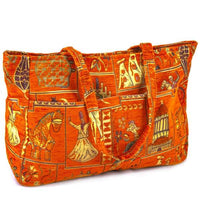 Tapestry Double Pocket Beach Bag