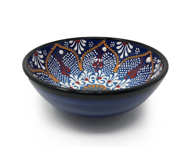 Dantel Turkish Handmade Ceramic 12cm Bowl Blue