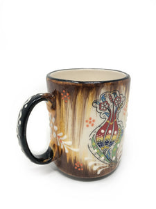 Traditional Ceramic Handmade Tulip Mug Gold