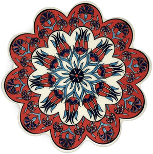 Traditional Turkish 18.5cm Ceramic Daisy Trivet Nihale 007