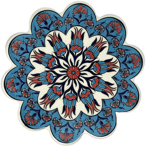 Traditional Turkish 18.5cm Ceramic Daisy Trivet Nihale 011