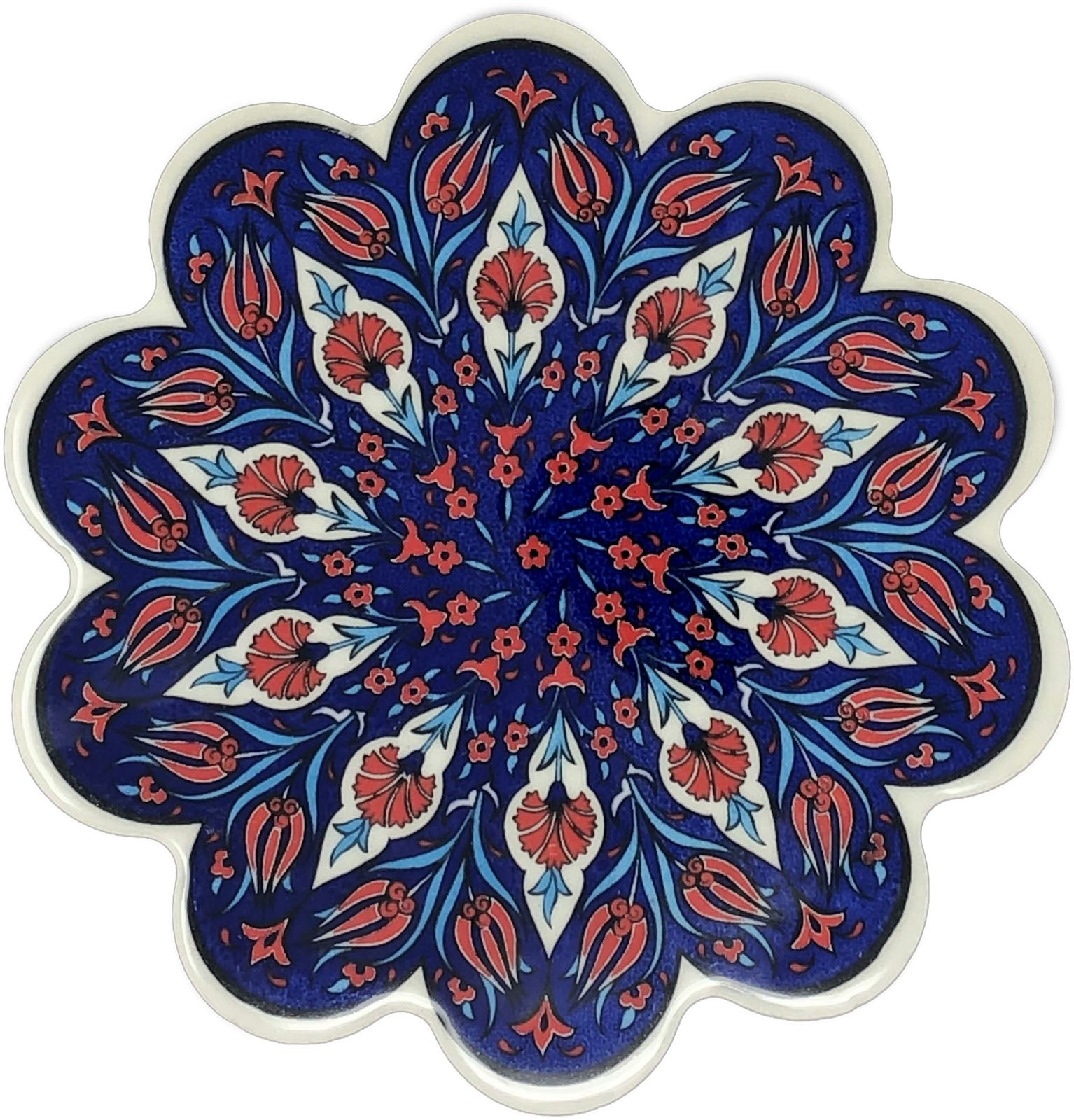 Traditional Turkish 18.5cm Ceramic Daisy Trivet Nihale 012