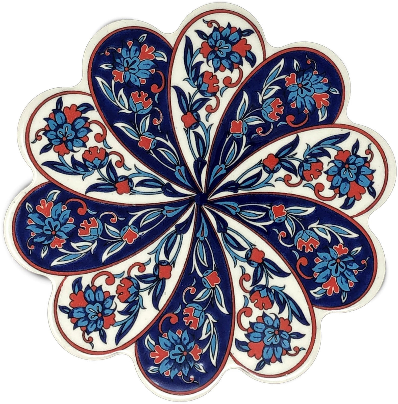 Traditional Turkish 18.5cm Ceramic Daisy Trivet Nihale 013