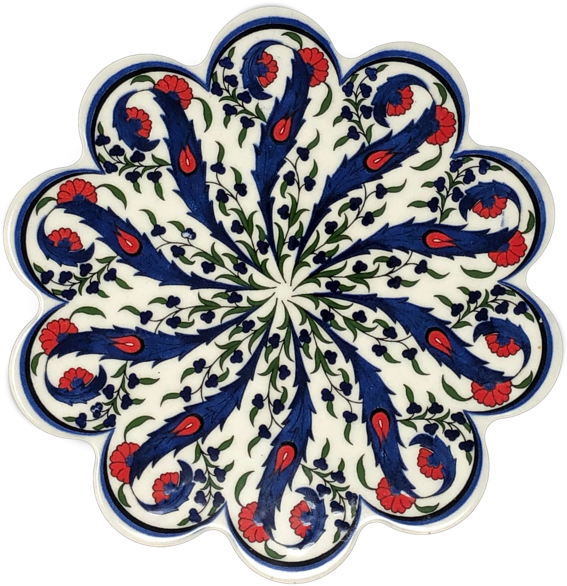 Traditional Turkish 18.5cm Ceramic Daisy Trivet Nihale 014