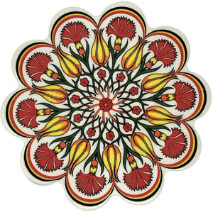 Traditional Turkish 18.5cm Ceramic Daisy Trivet Nihale 018