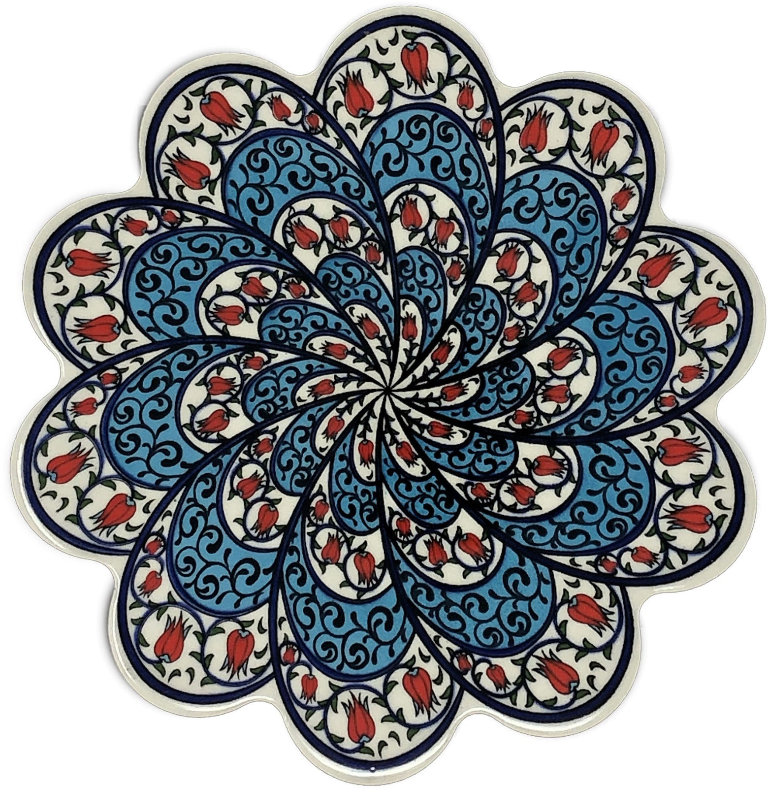 Traditional Turkish 18.5cm Ceramic Daisy Trivet Nihale 021