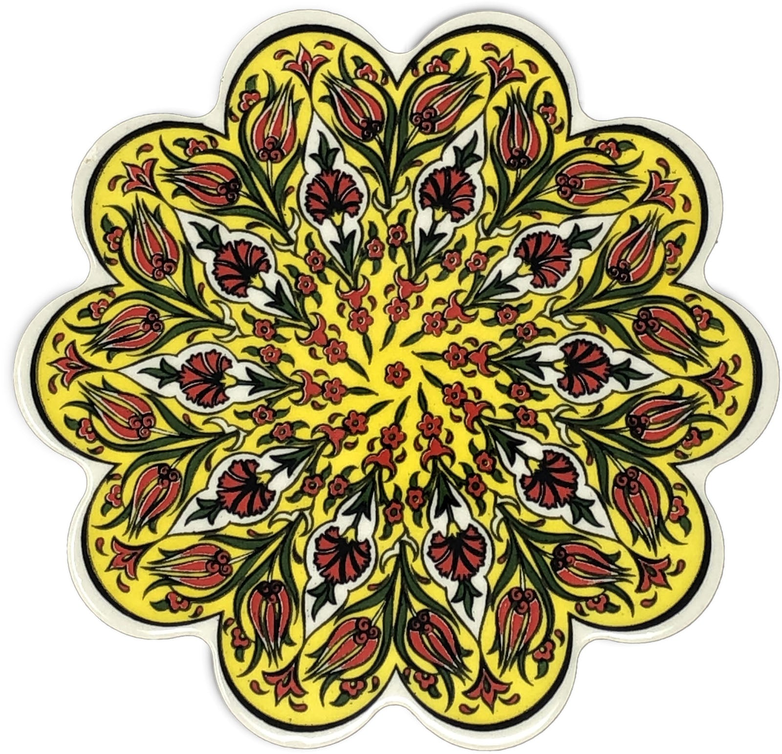 Traditional Turkish 18.5cm Ceramic Daisy Trivet Nihale 022