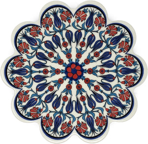 Traditional Turkish 18.5cm Ceramic Daisy Trivet Nihale 027