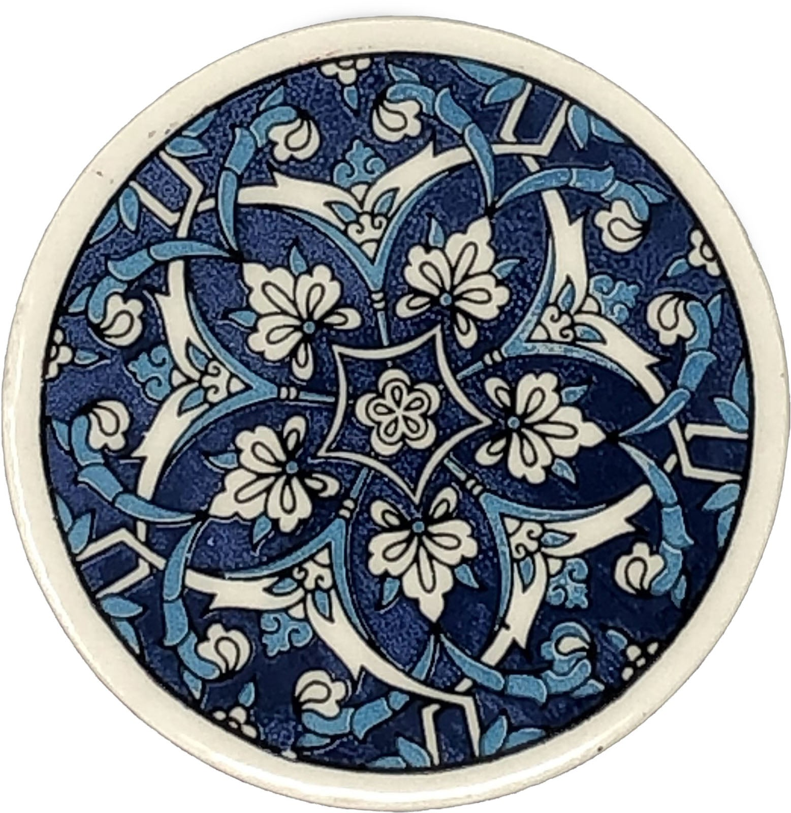 Traditional Turkish 9.5cm Ceramic Circular Coaster 004