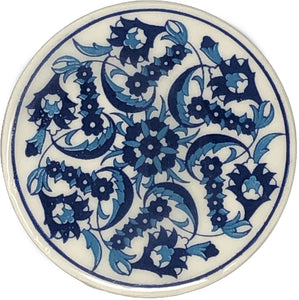 Traditional Turkish 9.5cm Ceramic Circular Coaster 006