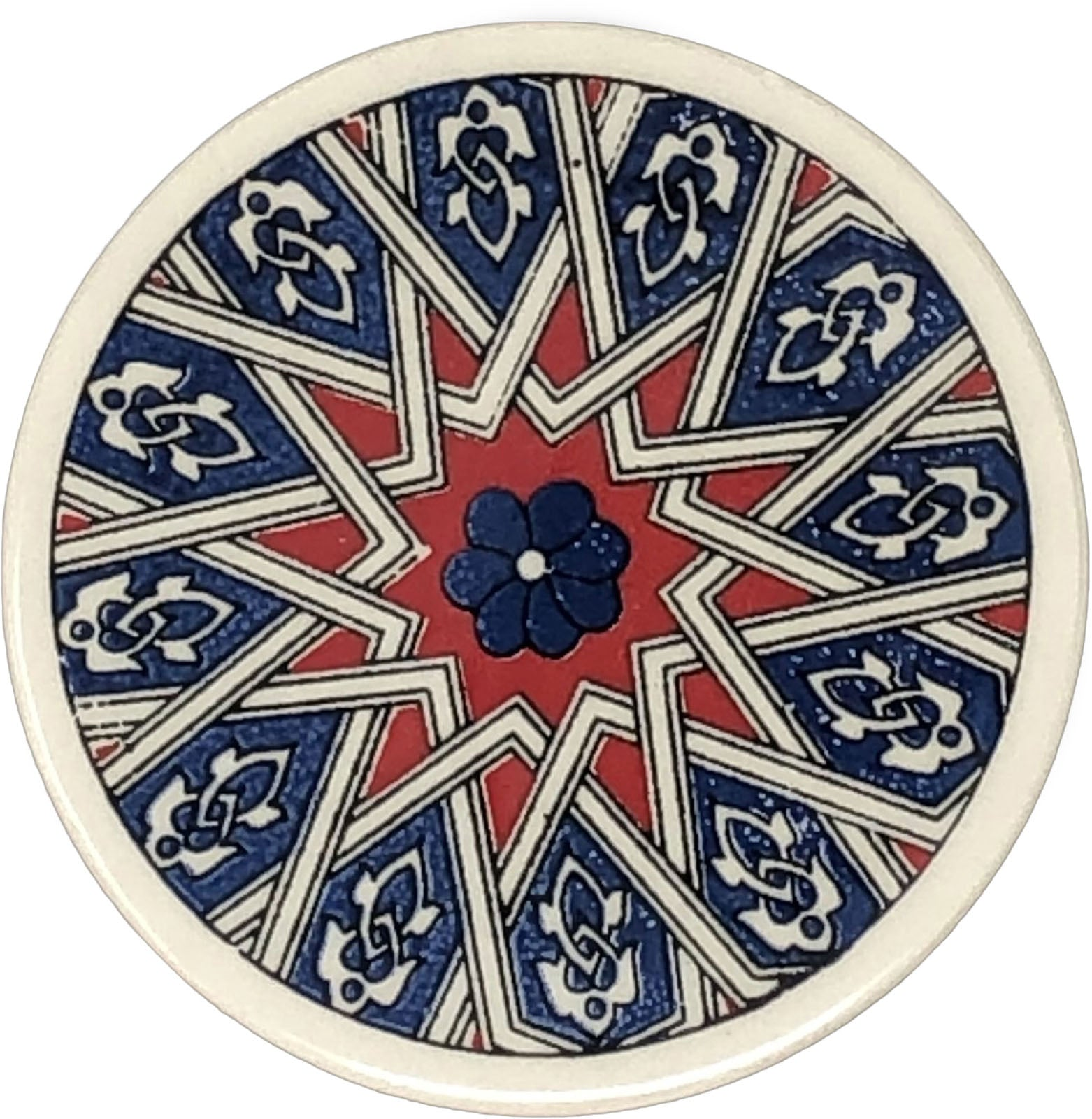 Traditional Turkish 9.5cm Ceramic Circular Coaster 007