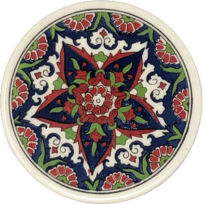Traditional Turkish 9.5cm Ceramic Circular Coaster 008