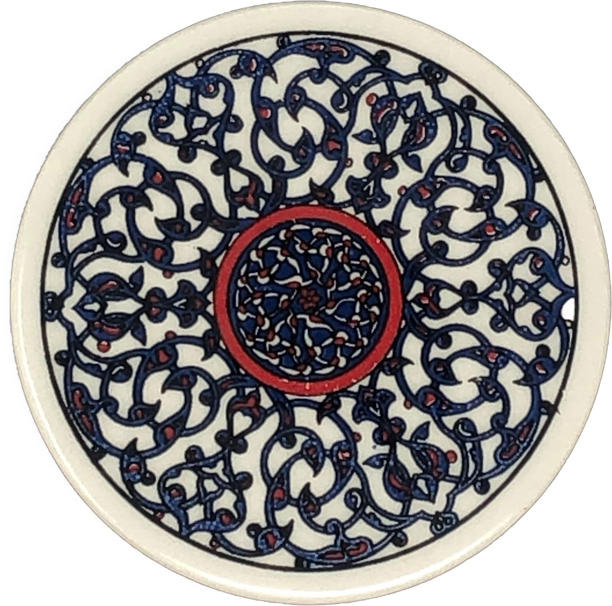 Traditional Turkish 9.5cm Ceramic Circular Coaster 009