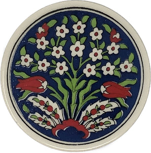 Traditional Turkish 9.5cm Ceramic Circular Coaster 012