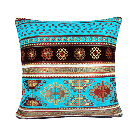 Traditional Turkish Handmade Cushion 42x42cm ET-M23 Turquoise