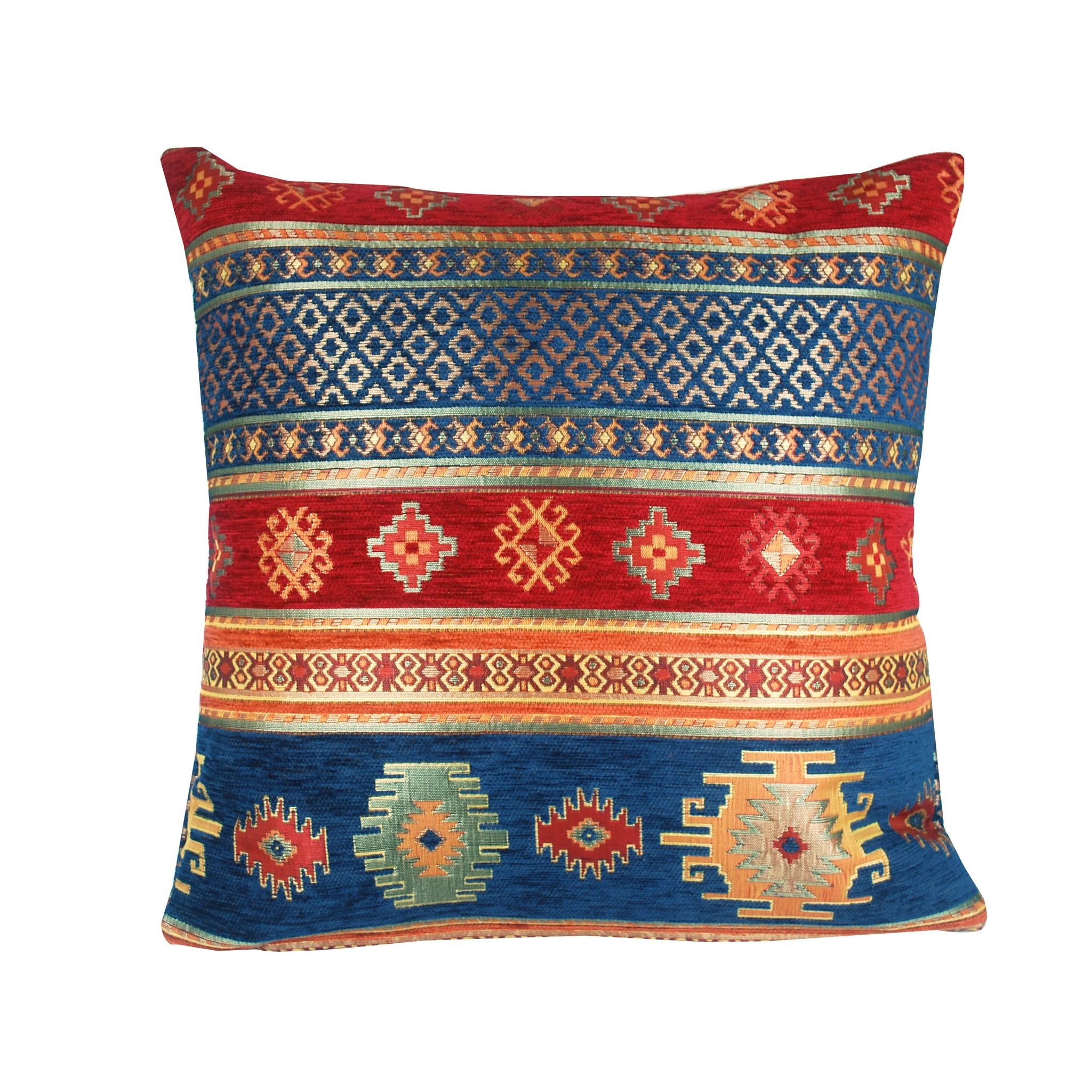 Traditional Turkish Handmade Cushion 42x42cm ET-M28 Blue & Red