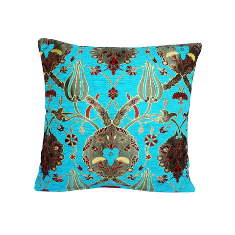 Traditional Turkish Handmade Cushion 42x42cm ET-M48 Turquoise