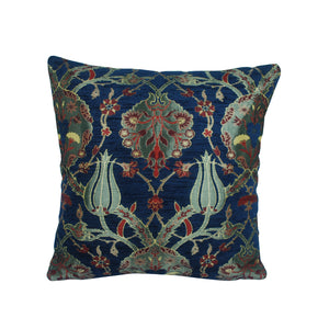 Traditional Turkish Handmade Cushion 42x42cm ET-M50 Navy