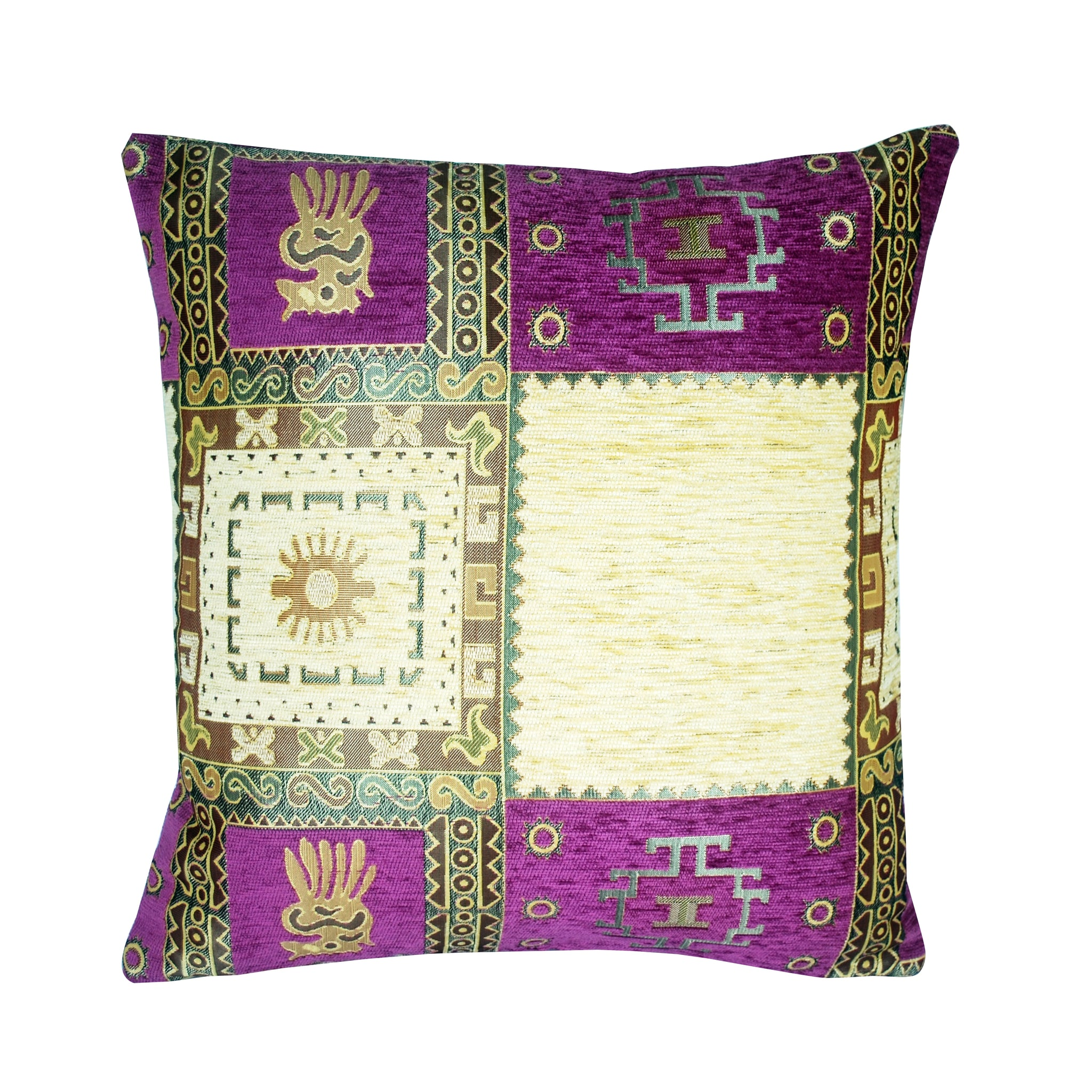 Traditional Turkish Handmade Cushion 42x42cm ET-M68 Purple