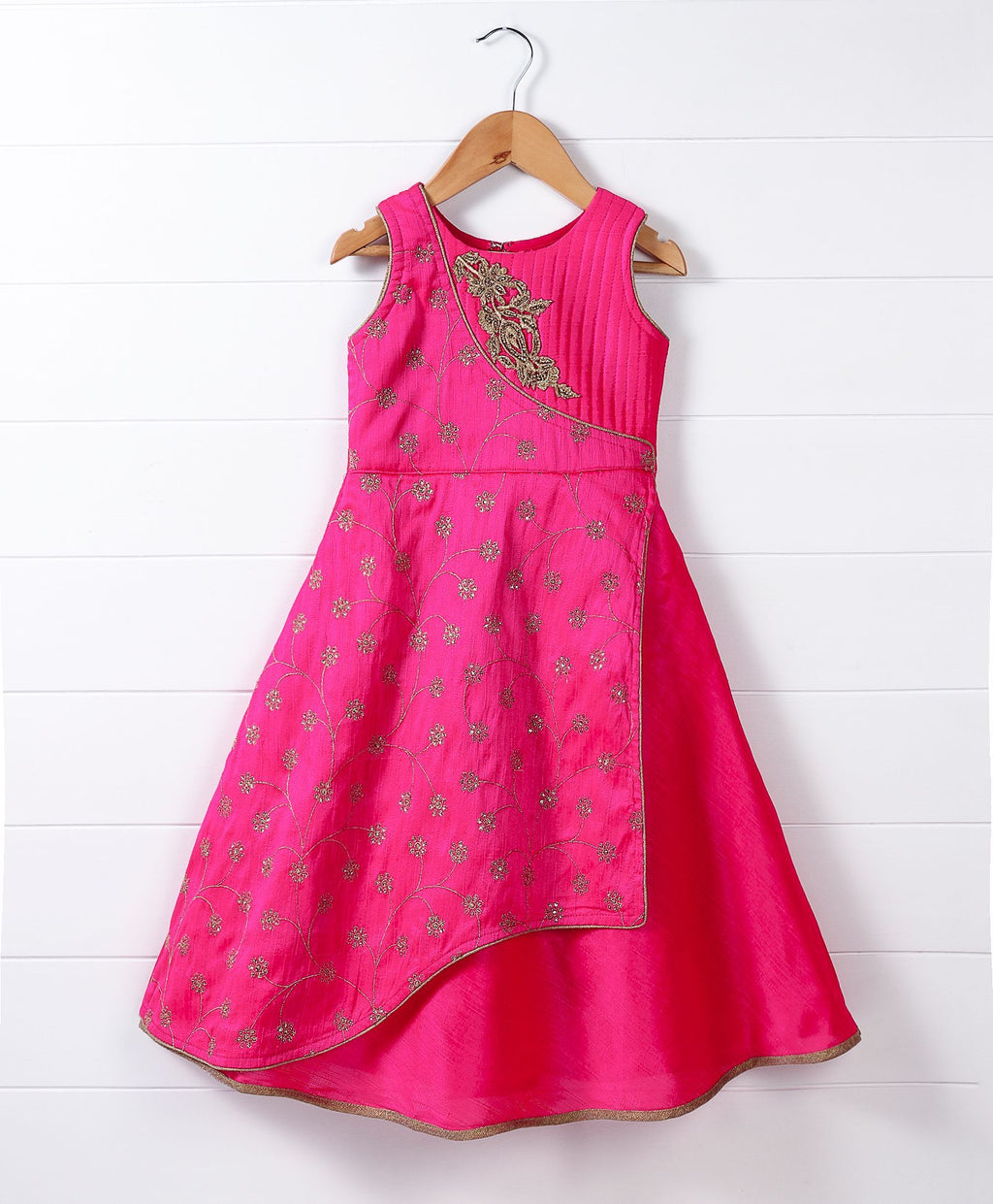 Girl Ethnic Pink Gown
