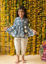 NEW ARRIVAL! Blue Kurta with White Tulip Pants