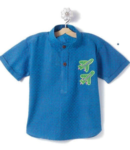 Blue Indo western short Kurta boy children wear festive wear