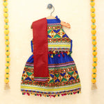Chaniya Choli for Girls - Festive Embroidered Blue Halter Neck