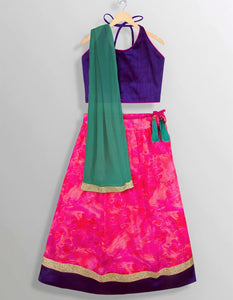 Halter Neck Purple Pink Girls ethnic indian wear lehenga choli