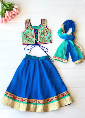 Brocade Lehenga Choli for girls