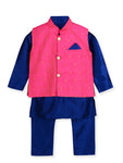 NEW ARRIVALS! Blue Pink Kurta Pajama with Jacket
