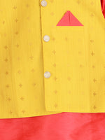 NEW ARRIVALS! Red and Yellow Kurta Pajama with Jacket