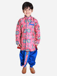 NEW ARRIVALS! Printed Pink and Royal Blue Dhoti Kurta Set