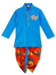NEW ARRIVALS! Blue Kurta and Red Dhoti Set For Boys